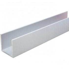 U skinne natureloxeret aluminium 20 x 20