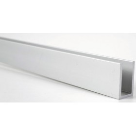U skinne natureloxeret aluminium 40 x 20